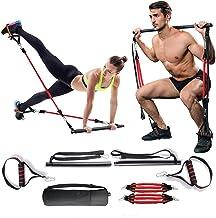 MMCAT Draagbare Home Gym Yoga Pilates Stick Fitness Bar Kit voor vrouwen en mannen Squat en Gluten Workout, Verstelbare Oe...