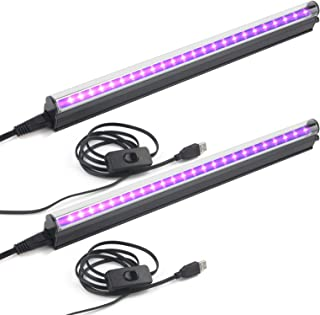 Led Black Light Bar, 10W 1ft USB UV Blacklight Tube, Glow in The Dark Party Supplies for Halloween Decorations, Room, Body...