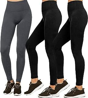 Premium Women's Fleece Lined Leggings Soft High Waist Slimming Warm Leggings Winter Workout Yoga Pants
