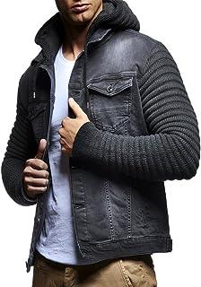 Leif Nelson Giacca di Jeans Uomo con Cappuccio LN-5240