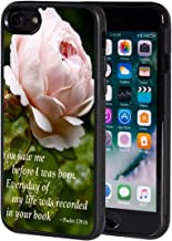 iPhone 7 Case,AIRWEE Slim Anti-Scratch Shockproof Silicone TPU Back Protective Cover Case for iPhone 7 4.7 Inch,Bible Verses Psalm 139:16