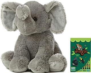 Elephant Stuffed Animal | Extra Soft Plush Elephant | 14 Inches Head to Toe | Includes Animal Stickers