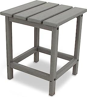 POLYWOOD ECT18GY Long Island Side Table, 18-Inch, Slate Grey