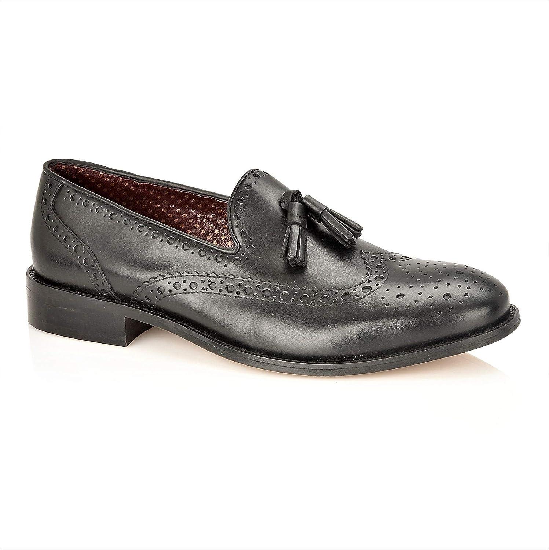 London Brogues Louis Mens Tassel Brogue Loafer Shoes
