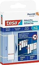 tesa Powerstrips - Kleefstrips voor tegels & metaal 3 kg - Navulverpakking voor Klevende Spijker met 6 dubbelzijdig kleven...