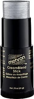 Mehron Professional CreamBlend Makeup Stick, Silver 0.75 Ounce