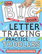 The Big Book of Letter Tracing Practice for Toddlers: From Fingers to Crayons - My First Handwriting Workbook: Essential P...