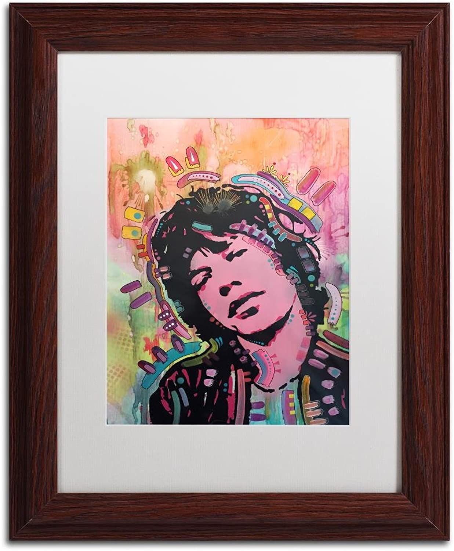 Trademark Fine Art Mick 1 by Dean Russo, White Matte, Wood Frame 11x14