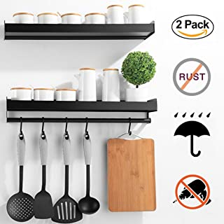 Xabitat Wall Mounted Spice Rack with 6 Removable Hangers 16