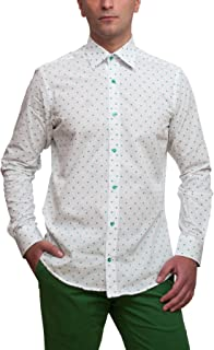 Dotted Line Mens Dress Shirt