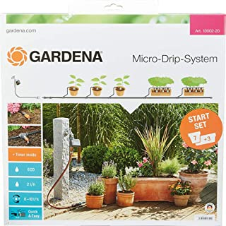 GARDENA Starter Set Flower Pots M automatic: The Micro-Drip System Starter Set for seven pots and three troughs (13002-20)