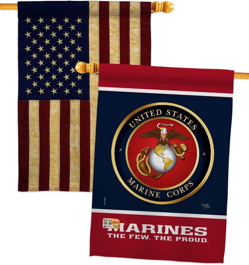 Proud Marine 価格交渉OK送料無料 Corps House Flag - Armed Fi Semper Pack USMC Forces まとめ買い特価
