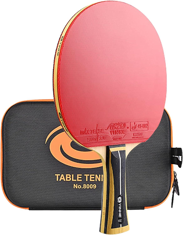 SGAIYUNRT Palas Ping Pong de Nueva Tecnología, Raquetas de Tenis de Mesa de Entrenamiento con Bolsa de Raqueta Dura