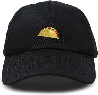 Taco Dad Hat Baseball Cap for Men Womens Emoji Caps Black Pink White Green