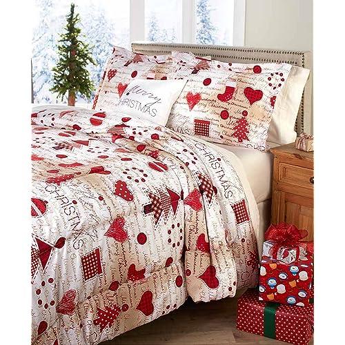 Christmas Bedding Sets Queen.Christmas Quilt Sets Amazon Com