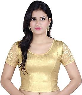 cc1d83ef9ad7c7 Fressia Fabrics Women'S Cotton Saree Blouse (Golden-Half_Gold_Free Size)