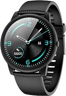 LTLJX Reloj Inteligente Pulsómetro Pulsera de Actividad con Monitor de Sueño Podómetro Impermeable IP68 Reloj Deportivo Mujer Hombre Smartwatch Compatible Android y iOS,Negro