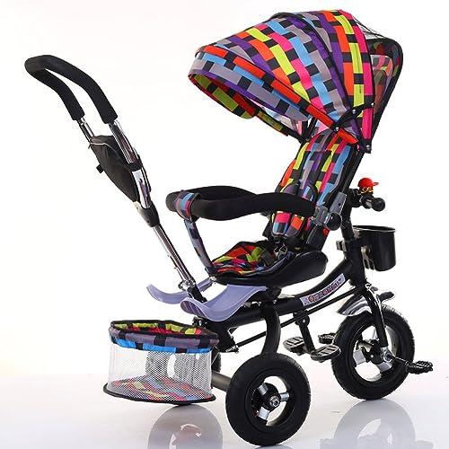 orden en línea Bicicletas para Niños Niños Niños Guo Shop- Triciclo Infantil Cochecito Plegable de bebé para Bicicleta 1-6 años de antigüedad Vacío Color de Rueda de Titanio (Color    e)  colores increíbles