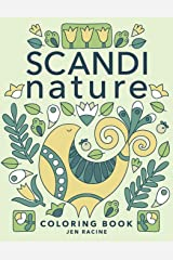 Scandi Nature Coloring Book: Easy, Stress-Free, Relaxing Coloring for Everyone Paperback