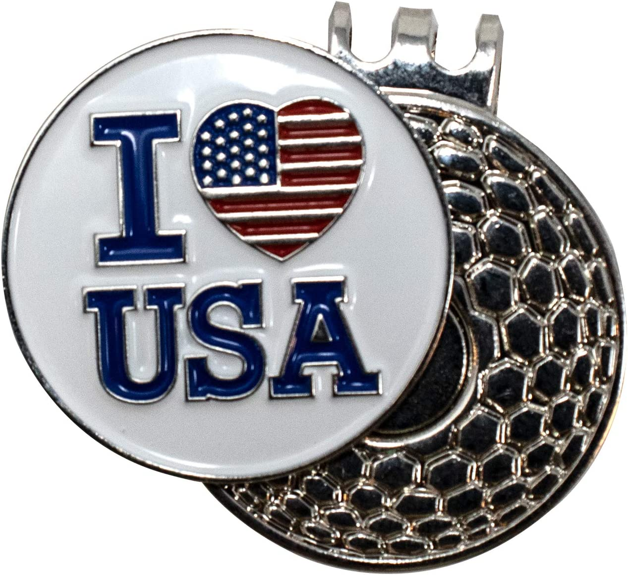 DA VINCI Magnetic Golf Hat Clip 1 with Max 73% OFF Inch Embossed M Patriotic New York Mall