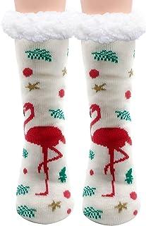 Moyel Women's Fuzzy Slipper Socks With Grips Warm Cozy Soft Winter Gifts