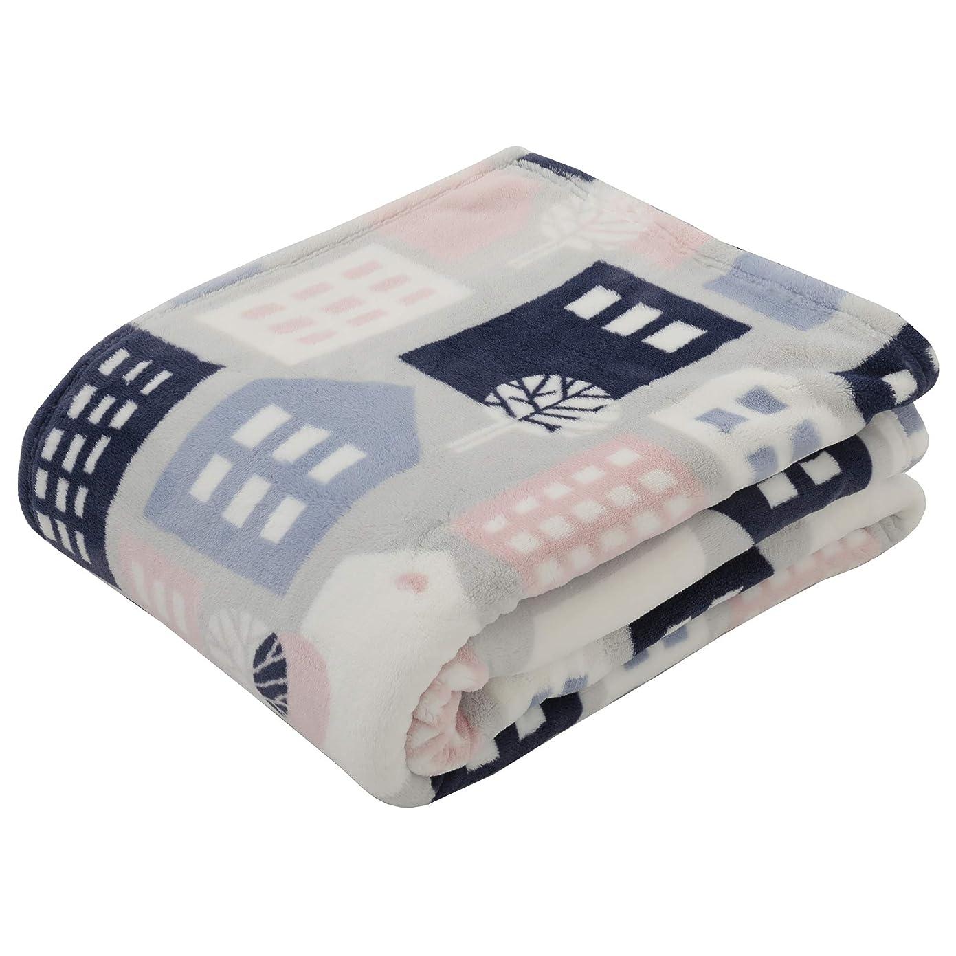 ことわざスパイラル計器東京西川 毛布 ピンク シングル フィンレイソン タロット(街並み)柄 すべすべ 軽量 FQ08505035P