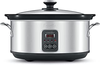 Breville The Smart Temp Slow Cooker, Brushed Stainless Steel BSC420BSS