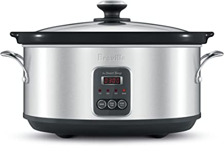 Breville BSC420BSS The Smart Temp Slow Cooker, Brushed Stainless Steel