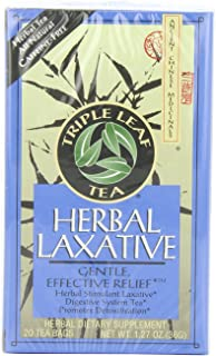 Triple Leaf Tea, Herbal Laxative, 20 Tea Bags (Pack of 6)