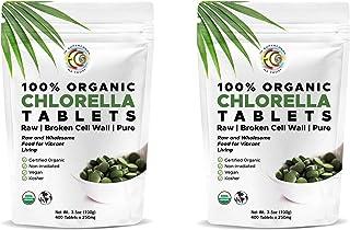 Premium High Potency Chlorella Tablets | Organic | Fermented | 100 Servings | Pure Clean Raw | Ideal Mercury Detox | Crack...