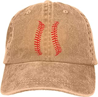 Baseball Or Softball Seams 4 Vintage Washed Distressed Baseball Dad Hats Cap