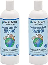 product image for Earthbath Pet Eucalyptus & Peppermint Soothing Stress Relief Shampoo - Promotes Relaxation, Aloe Vera, Vitamin E - Leave Your Best Friend's Coat Soft and Refreshingly Clean - 16 fl. oz, Pack of 2