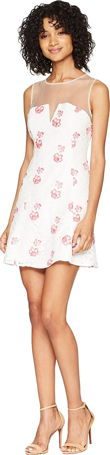 BB Dakota Womens RSVP Flavia Floral Embroidered Lace Dress