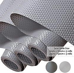Transparente Gris//Puntos Alfombra Antideslizante de EVA para Cajon Hersvin 60x150cm Refrigerador Impermeable Proteger Estantes Tama/ño Grande No Adhesivo Cocina Gabinete Mesas