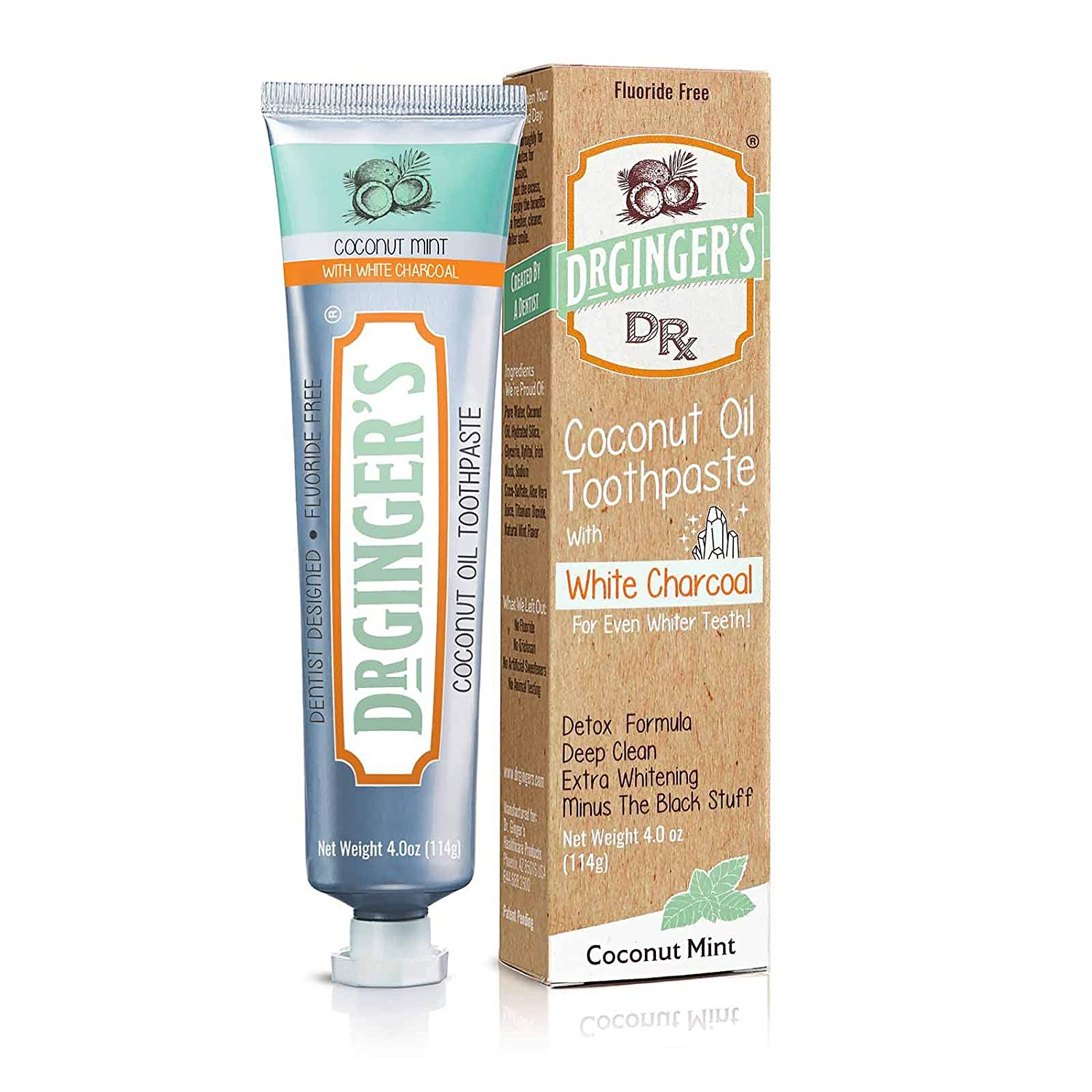 Clearance SALE Limited time Dr. Popular Ginger's Charcoal Toothpaste Pack 1