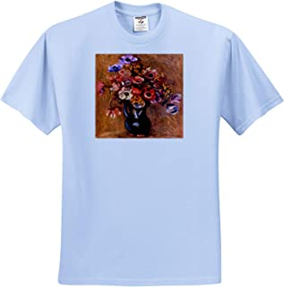 Masterpieces Van Gogh Vase with Syringas Daisies and Anemones T-Shirts 3dRose VintageChest