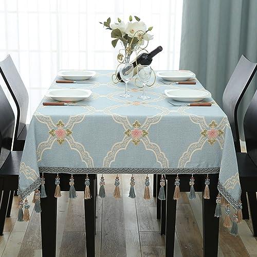 Küchenwäsche Tischdecke Rechteck European Cloth Hellblau Haushalt ( Farbe   A , Größe   140240cm )
