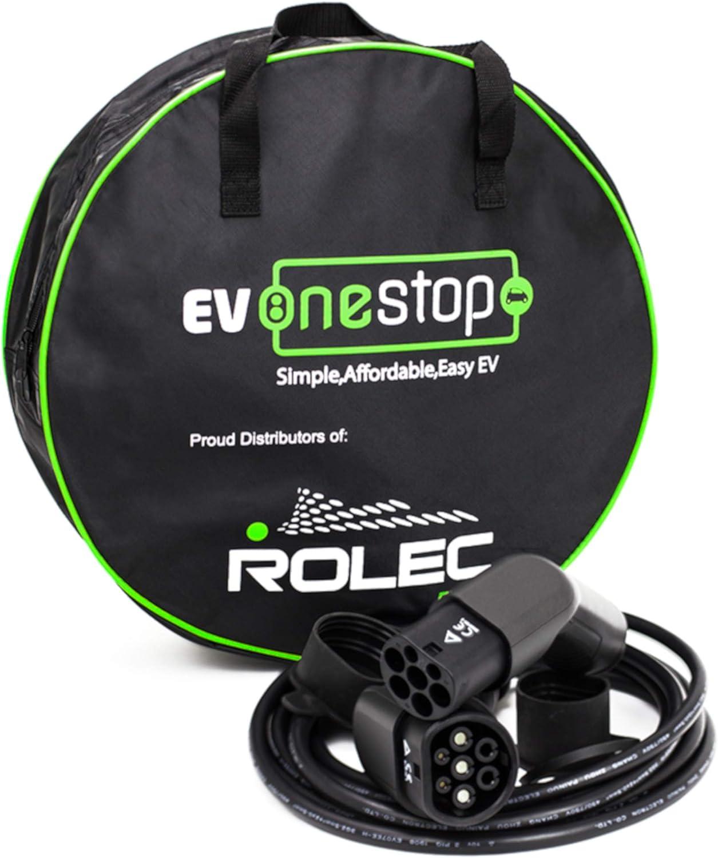 Ev Onestop Simple Affordable Easy Ev Ladekabel Für Elektrofahrzeuge Typ 2 Bis Typ 2 16 32 Amp 5 10 Meter Kostenlose Tragetasche 3 Phasen 5 Meter Auto