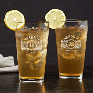 Marquee Personalized Long Island Iced Tea Glasses (Custom Product)