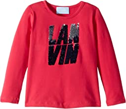 Long Sleeve Sequin Logo T-Shirt (Toddler/Little Kids)