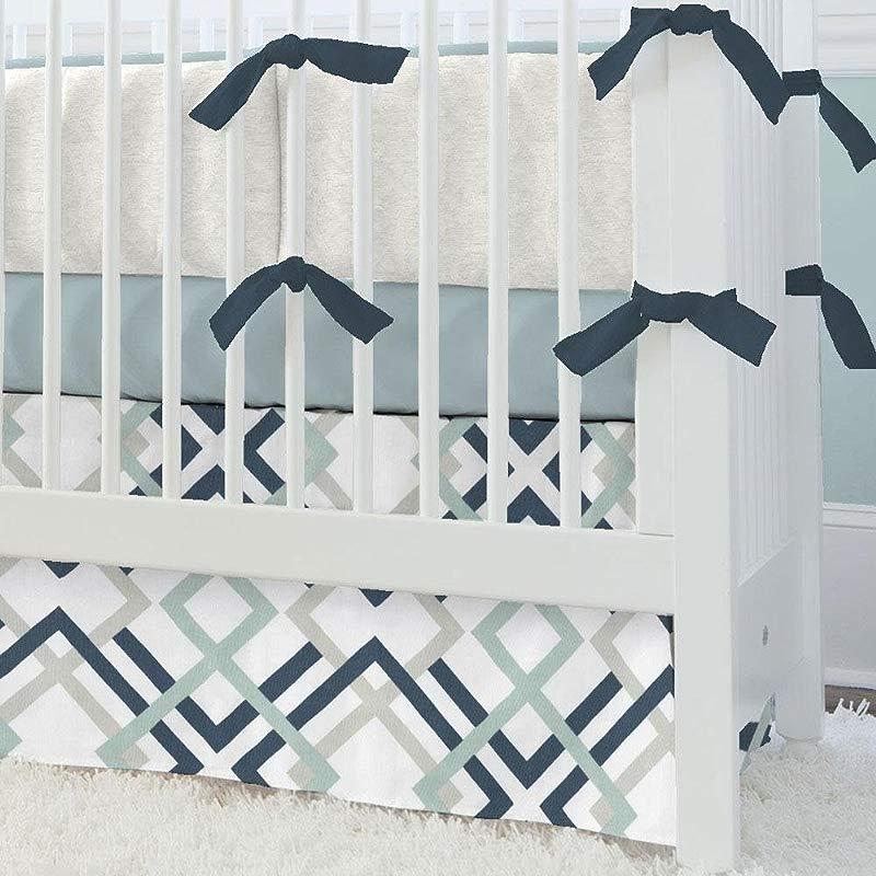 Carousel Designs Navy And Gray Geometric 2 Piece Crib Bedding Set