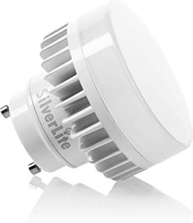 Silverlite 10w LED Puck GU24 Squat Light Bulb,18w Low Profile Spring CFL Equivalent,50000hours Lifespan,1100LM,Nature White(4000K),120-277V,Wet Location Suitable,UL Listed