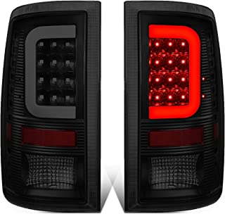 DNA Motoring TL-DRAM09-LED-3D-BK-SM-G2 Pair Black Housing Smoked Lens 3D LED Tail Lights [09-17 Dodge Ram]