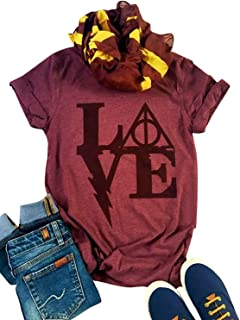 Love Letters Graphic Cute T Shirt Women's Short Sleeve Tees Casual O-Neck Holiday Tops