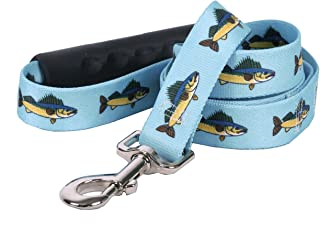 "Yellow Dog Design Walleye EZ-Grip Dog Leash-with Comfort Handle-Size Large-1"" Wide and 5 feet (60"") long"