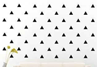 JCM CUSTOM Removable Easy Peel and Stick, Wall Vinyl Decal Sticker, DIY Decor/Safe on Painted, Triangle, Black, Set of 96 +