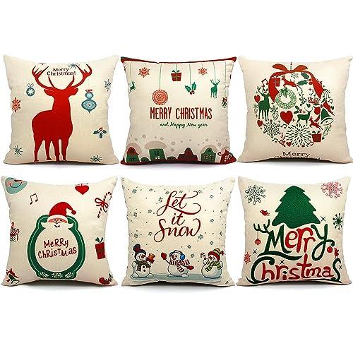 Christmas Pillows.Christmas Pillows Decorative Amazon Com