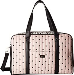 Cruize PVC Weekender with A Luggage Pass Through On The Back & Removable Wristlet