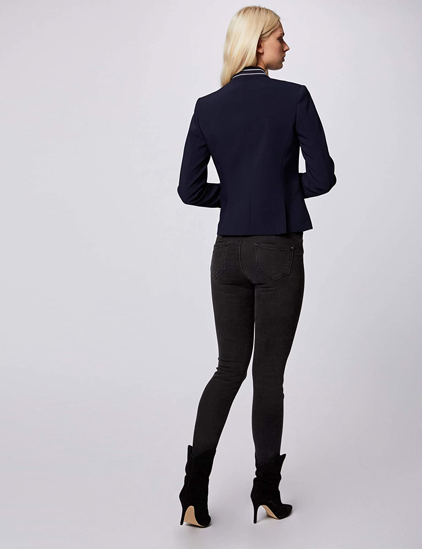 Morgan Veste Col Galon Ray/é Vecity Blazer Casual para Mujer