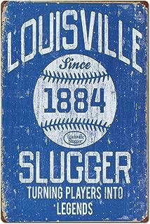 Vintage Louisville Slugger Baseball Sports Tin Sign Metal Sign Metal Decor Wall Sign Wall Poster Wall Decor Door Plaque TIN Sign 7.8X11.8 INCH